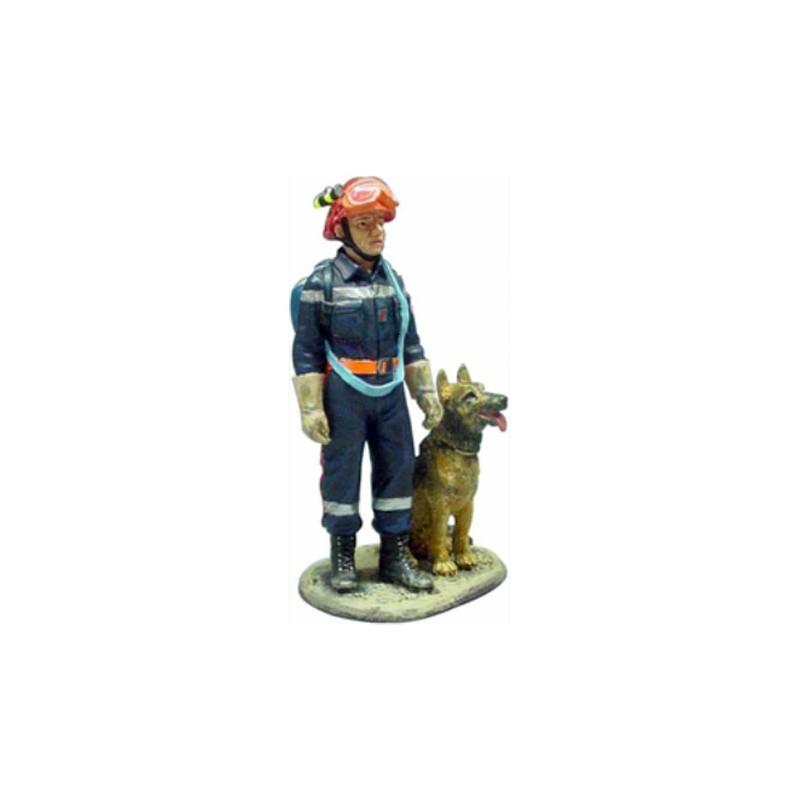 Figurine pompier Maitre-Chien 2002